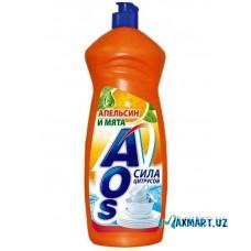 "Средство Для Мытья Посуды ""AOS"" Апельсин-Мята 900мл"