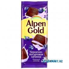 Молочный шоколад Alpen Gold «Черника с йогуртом»