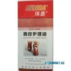 """Крем-краска для обуви """"AURORA"""" с содержанием воска (коричневый)"""