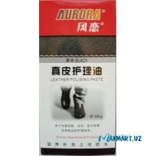 """Крем-краска для обуви """"AURORA"""" с содержанием воска (черный)"""