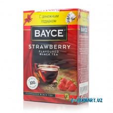 """Чай черный """"BAYCE"""" 100гр клубника"""