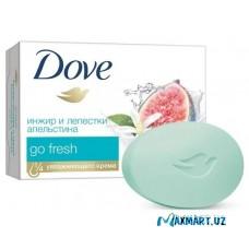 """Мыло-крем """"Dove"""" инжир и лепестки апельсина 135 гр"""