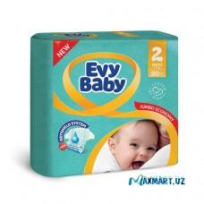 """Подгузники """"Evy Baby 2"""" 80шт."""